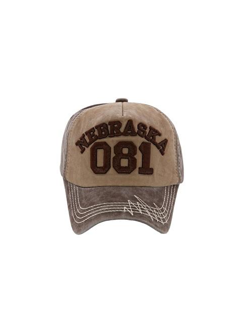 Laslusa Nebraska 081 Beyzbol Cap Şapka Kahve